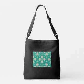 Sweet pink glam diamond geometric floral pattern tote bag