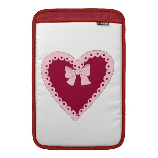 Sweet Pink Heart Sleeves For MacBook Air