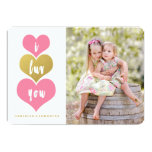 "Sweet Pink Hearts | Valentine's Day Photo Card 5"" X 7"" Invitation Card"
