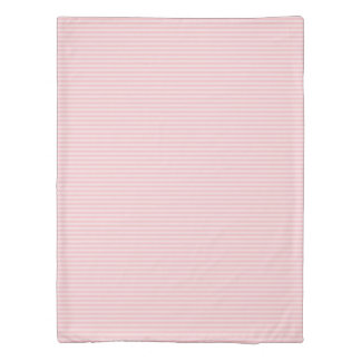 Sweet Pink Horizontal Stripes Pattern Duvet Cover
