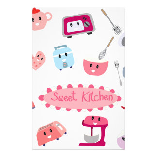 Sweet pink kitchen electricity and tool cute icon stationery