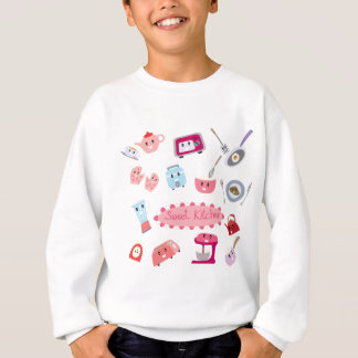 Sweet pink kitchen electricity and tool cute icon sweatshirt