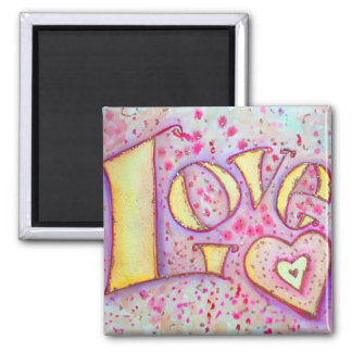 Sweet Pink Love Art Painting Magnet