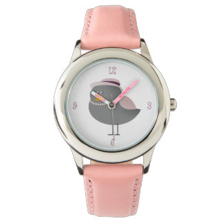 Sweet Pink Old Fashion Bird Charming Lady Girly Watch