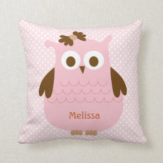 Sweet Pink Owl Pillow