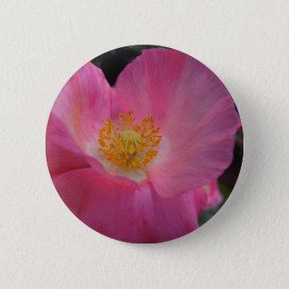 Sweet Pink Poppy Heart 2 Inch Round Button