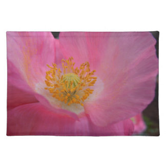 Sweet Pink Poppy Heart Placemat