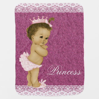 Sweet Pink Princess Baby Baby Blankets