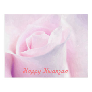 Sweet Pink Rose, floral watercolor painting art Postcard