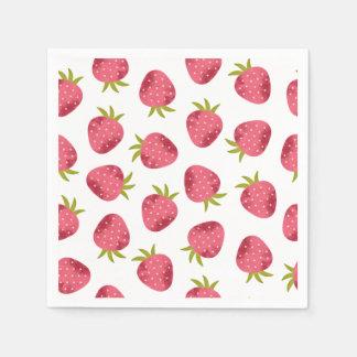Sweet Pink Strawberry Seamless Pattern Napkin