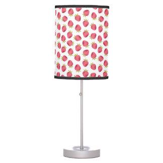 Sweet Pink Strawberry Seamless Pattern Table Lamp