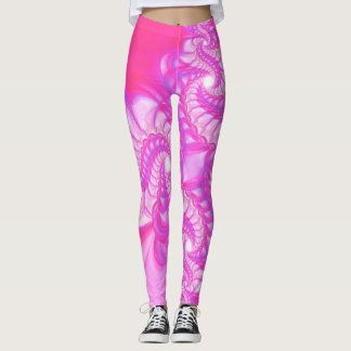 Sweet Pink Swirl Leggings