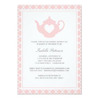 Sweet Pink Teapot Bridal Shower Tea Party Card