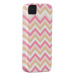 Sweet Pink Zig Zag Pattern iPhone Case Case-Mate iPhone 4 Cases