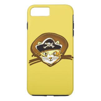 sweet pirate cat gold cartoon iPhone 7 plus case