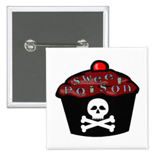 Sweet Poison 2 Inch Square Button