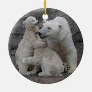 Sweet Polar bear cubs Ceramic Ornament