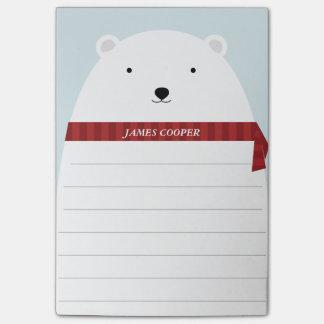 Sweet Polar Bear Post It Notes