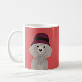 Sweet Poodle with Cloche for Poodle Parents Coffee Mug