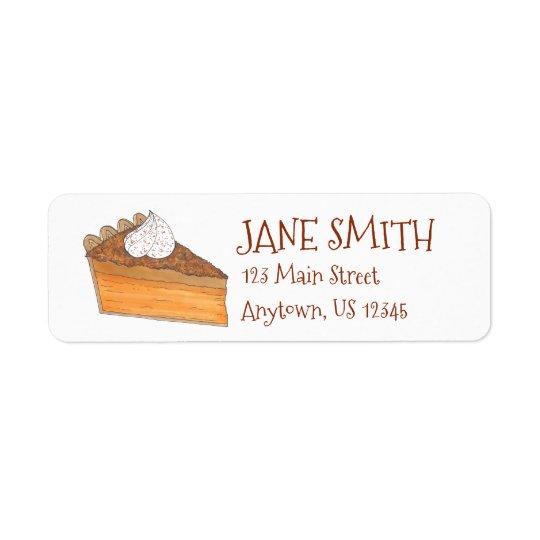 Sweet Potato Pie Christmas Holiday Thanksgiving Return Address Label