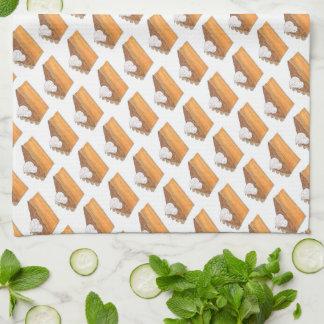 Sweet Potato Pie Slice Christmas Thanksgiving Food Kitchen Towel
