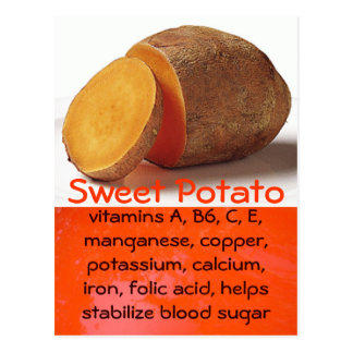 sweet potato postcard