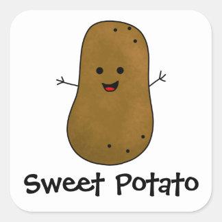 Sweet Potato Square Sticker