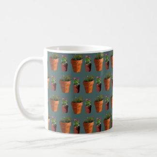 Sweet Potted Geometric Succelents Print Coffee Mug