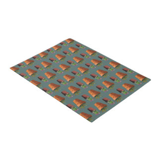 Sweet Potted Geometric Succelents Print Doormat