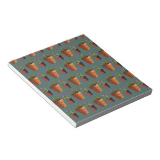 Sweet Potted Geometric Succelents Print Notepads
