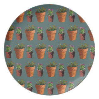 Sweet Potted Geometric Succelents Print Plate