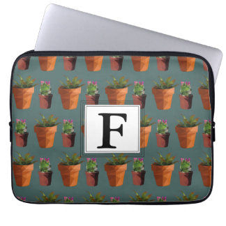 Sweet Potted Succulent Print Customisable Laptop Sleeve