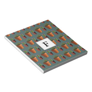 Sweet Potted Succulent Print Customisable Notepads