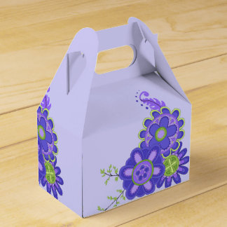 Sweet & Pretty Purple Flowers Favor Box