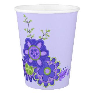 Sweet & Pretty Purples Flowers Paper Cup