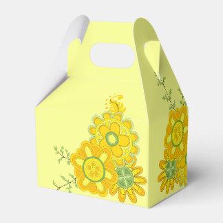 Sweet & Pretty Yellow Flowers Favor Box