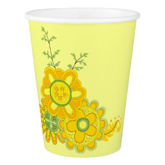 Sweet & Pretty Yellow Flowers Paper Cup