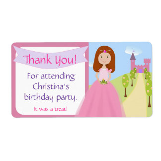 Sweet Princess Party Favor Label Shipping Label