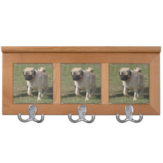 Sweet Pug Dog Coat Racks