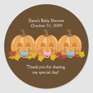 Sweet pumpkins Halloween Fall Favor Sticker