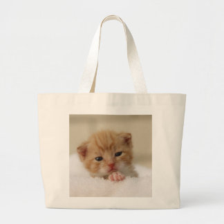 Sweet puppy kitty large tote bag