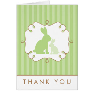 Sweet Rabbits Baby Shower Thank You Card