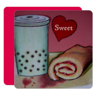 sweet recipe for romance valentines card