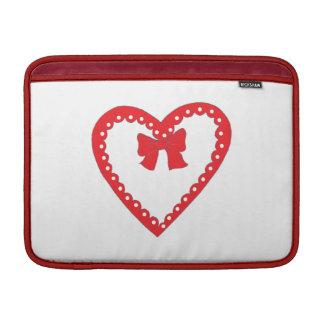Sweet Red Heart MacBook Sleeve