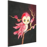 Sweet Red Owl Canvas Prints