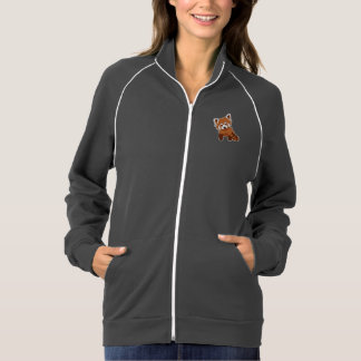 Sweet Red Panda Fleece Track Jacket