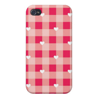 Sweet Red Valentine's background iPhone 4/4S Cases