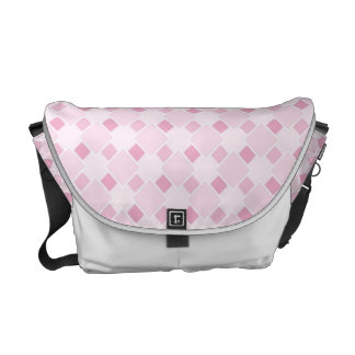 Sweet retro pastel baby pink pattern Messenger Bag