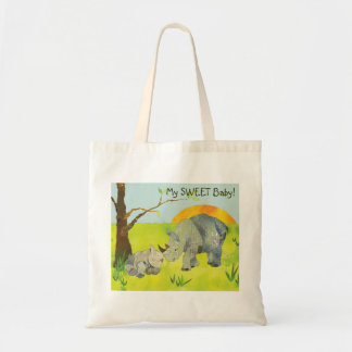 Sweet Rhinos Baby Diaper Tote Bag