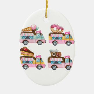 Sweet Ride Ceramic Oval Ornament